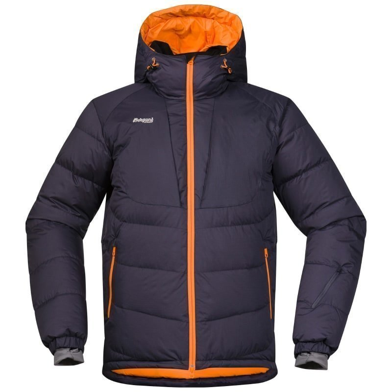 Bergans Sauda Down Jacket S NightBlue/Pumpkin/Alu