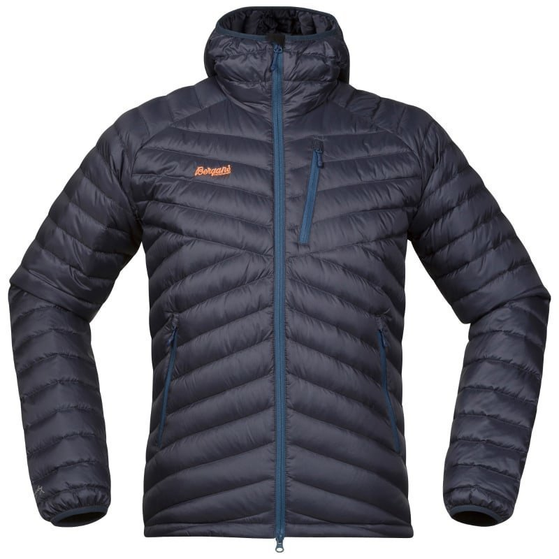 Bergans Slingsbytind Down Jacket w/Hood S NightBlue/DustyBlue/Pumpkin