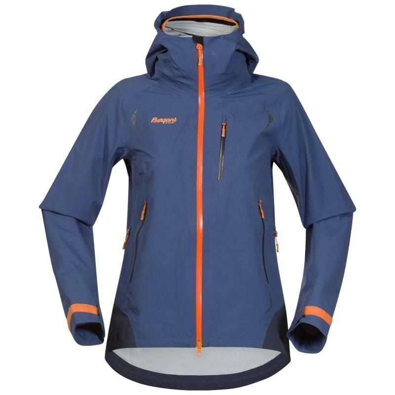 Bergans Storen Lady Jacket L Dusty Blue/Night Blue/Pumpkin