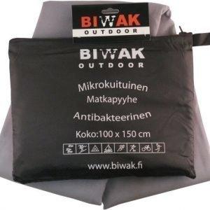 Biwak Matkapyyhe antibakteerinen harmaa - 100 X 150 cm