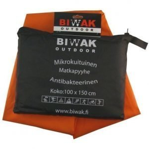 Biwak Matkapyyhe antibakteerinen oranssi - 100 X 150 cm