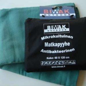 Biwak Matkapyyhe antibakteerinen vihreä - 100 X 150 cm