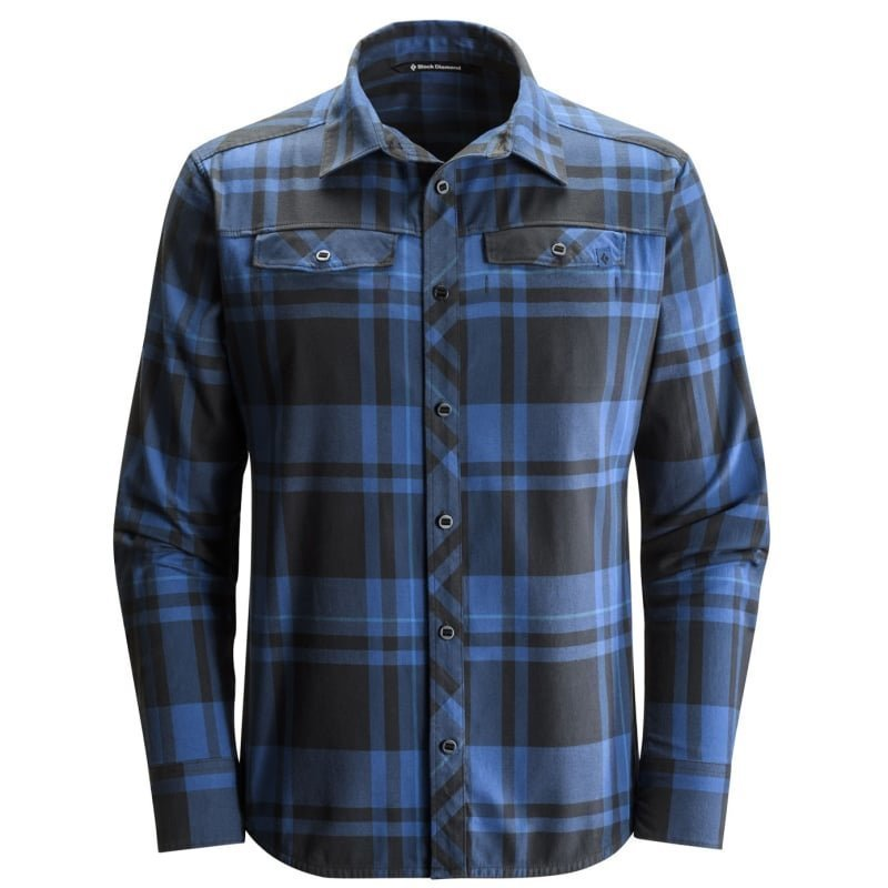 Black Diamond L/S Technician Shirt L Denim - Black Plaid