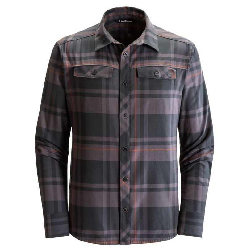 Black Diamond L/S Technician Shirt M Black- Slate Plaid