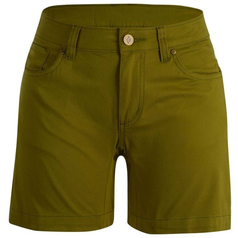 Black Diamond Stretch Font Shorts Women's 6 Sage