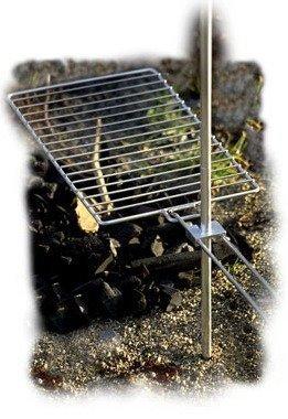 Brändi säädettävä grilliritilä nuotiolle