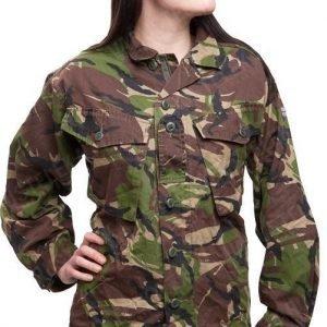 Brittiläinen CS95 kenttäpusero DPM ylijäämä tyttökuvalla