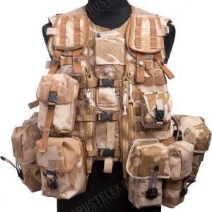 Brittiläinen Osprey taisteluliivi taskuilla Desert DPM ylijäämä