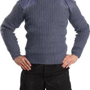 Brittiläinen villapaita siniharmaa ylijäämä