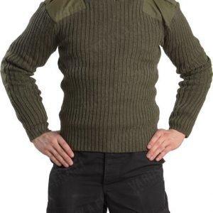 Brittiläinen villapaita vihreä ylijäämä