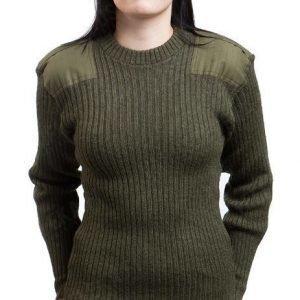 Brittiläinen villapaita vihreä ylijäämä tyttökuvalla