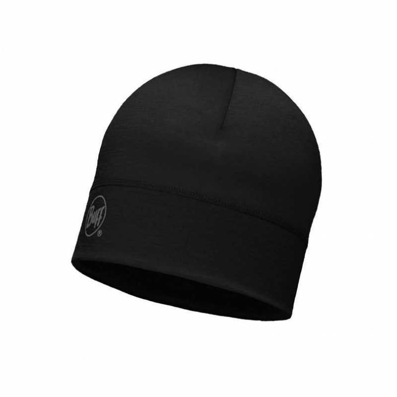 Buff Merino Hat Black
