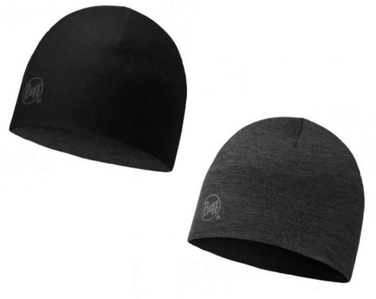 Buff Merino Reversible Hat Black
