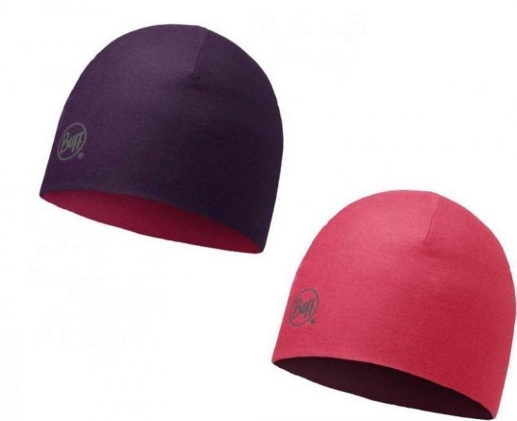 Buff Merino Reversible Hat Plum