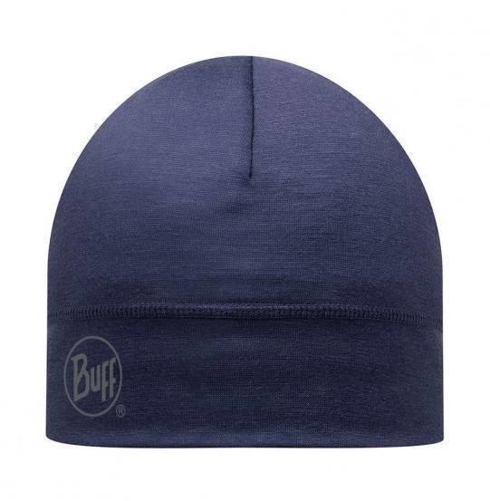 Buff Merino Wool Hat Night Blue