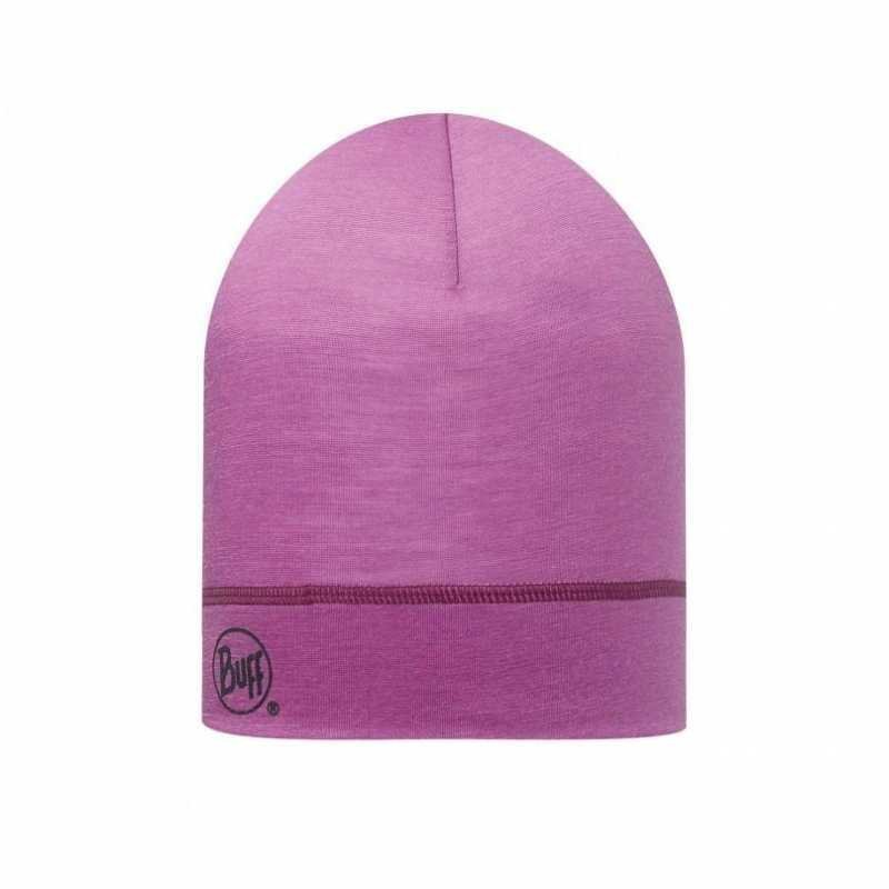 Buff Merino Wool Hat Raspberry