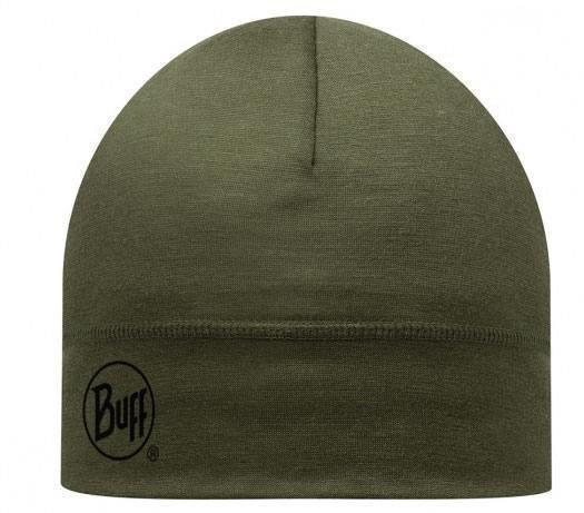 Buff Merino Wool Hat Tummanvihreä