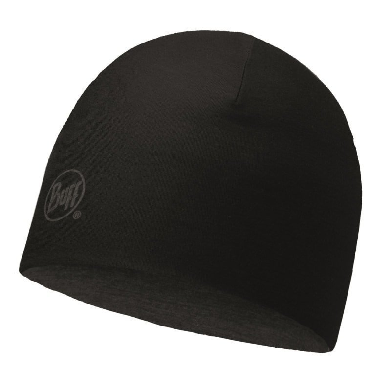Buff Merino Wool Reversible Hat Buff 1SIZE Solid Black