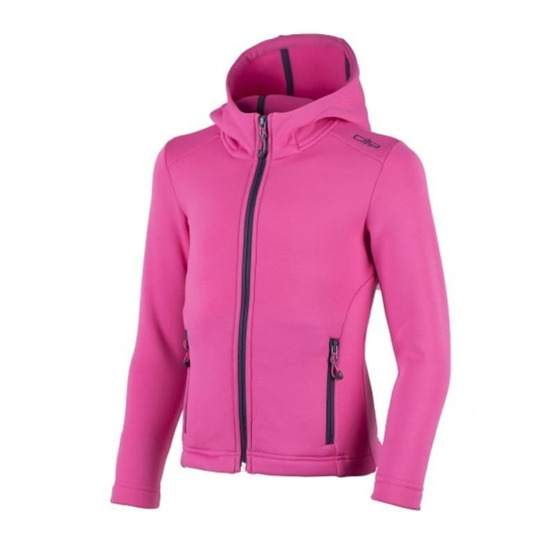 CMP Girl Moena Fleece Hood 140 Hot Pink