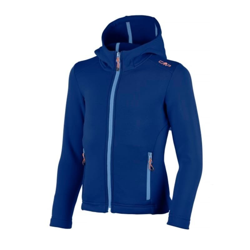 CMP Girl Moena Fleece Hood 140 Nautico