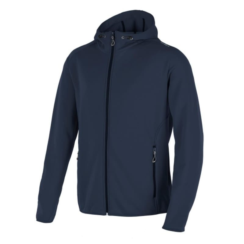 CMP Man Moena Fleece Hood 56 Black Blue