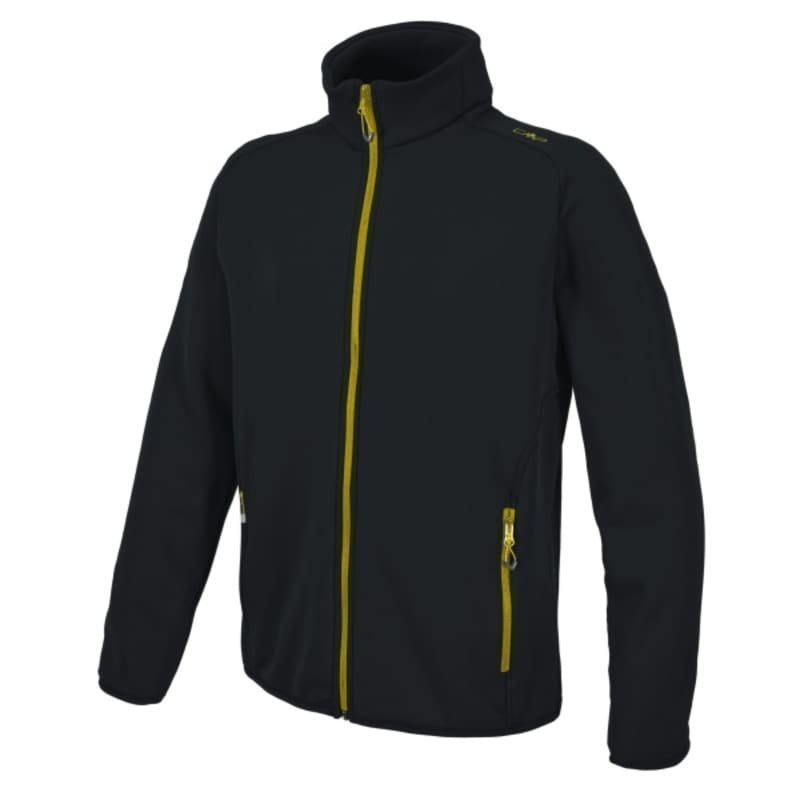 CMP Man Moena Fleece Jacket 56 Nero-Zolfo