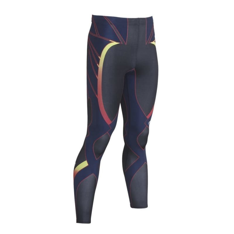 CW-X Revolution Tights L Black/YellowBlueRed