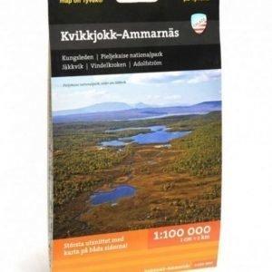 Calazo Kvikkjokk - Ammarnäs Fjällkarta Tyvek