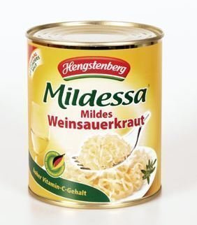 Can safe Hengstenberg Sauerkraut