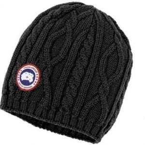 Canada Goose Merino Cable Knit Beanie W musta