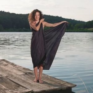 Cocoon 100% Silk Sarong night blue