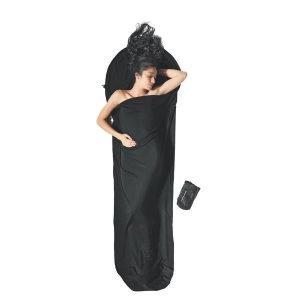 Cocoon Mummyliner Makuupussin Sisälakana 100% Merinovillaa Musta 220x80x60 Cm