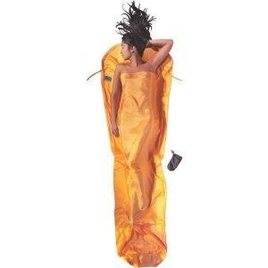 Cocoon Mummyliner Makuupussin Sisälakana 100% Silkkiä Keltainen 241x90x56 Cm