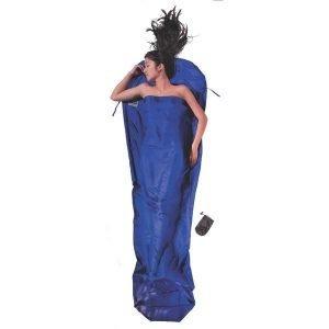 Cocoon Mummyliner Makuupussin Sisälakana 100% Silkkiä Sininen 241x90x56 Cm