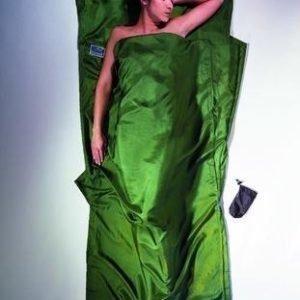 Cocoon Travel Sheet Silk 100% matkalakana silkkiä oliivin vihreä