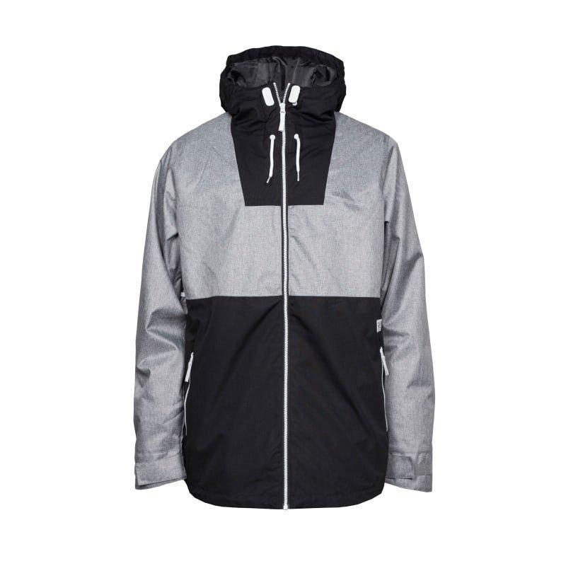 Colour Wear Block Jacket L Grey Melange