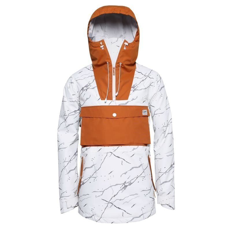 Colour Wear CLWR Anorak XS White Marble