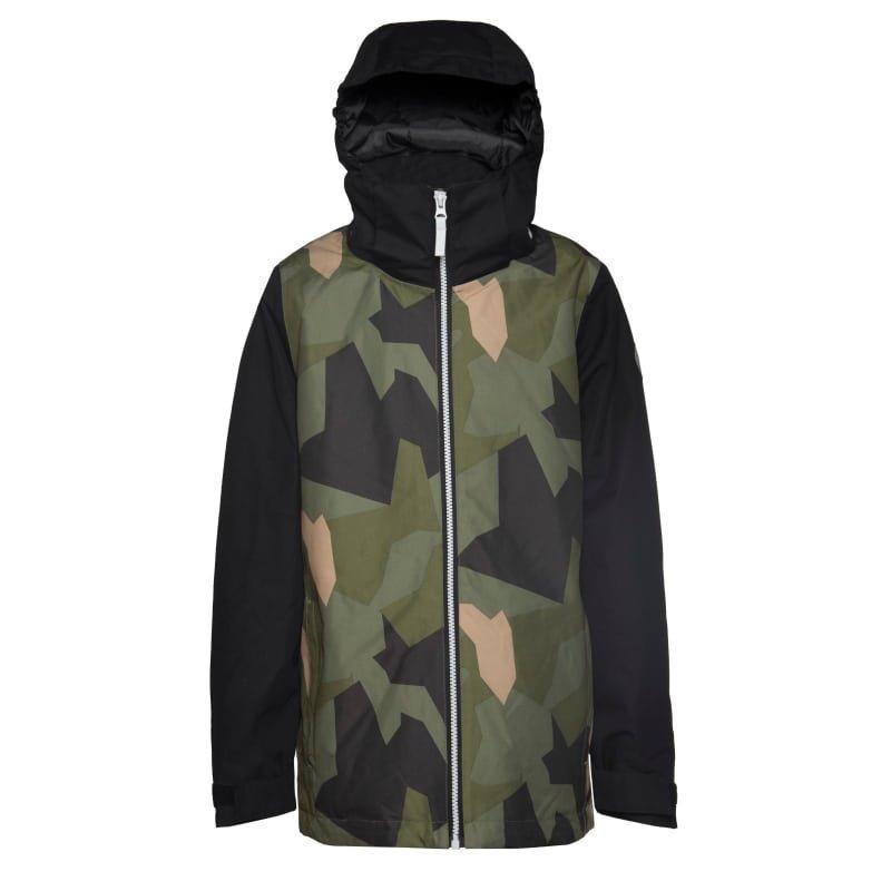 Colour Wear Mirror Jacket 120 Asymmetric Olive