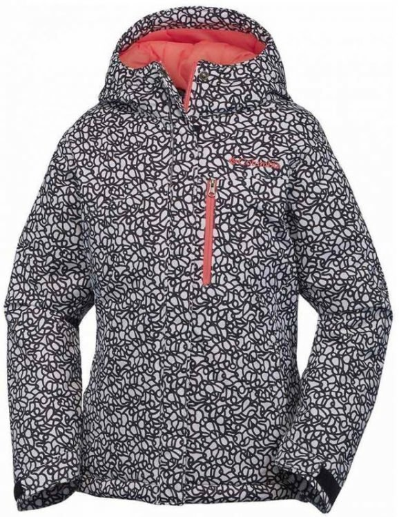 Columbia Alp Free Fall Girls Jacket Mustavalkoinen S