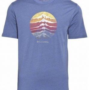 Columbia CSC Mountain sunset Tee Tummansininen L