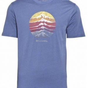 Columbia CSC Mountain sunset Tee Tummansininen S