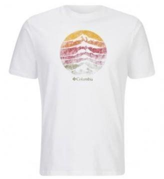 Columbia CSC Mountain sunset Tee Valkoinen L