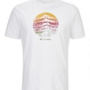 Columbia CSC Mountain sunset Tee Valkoinen M