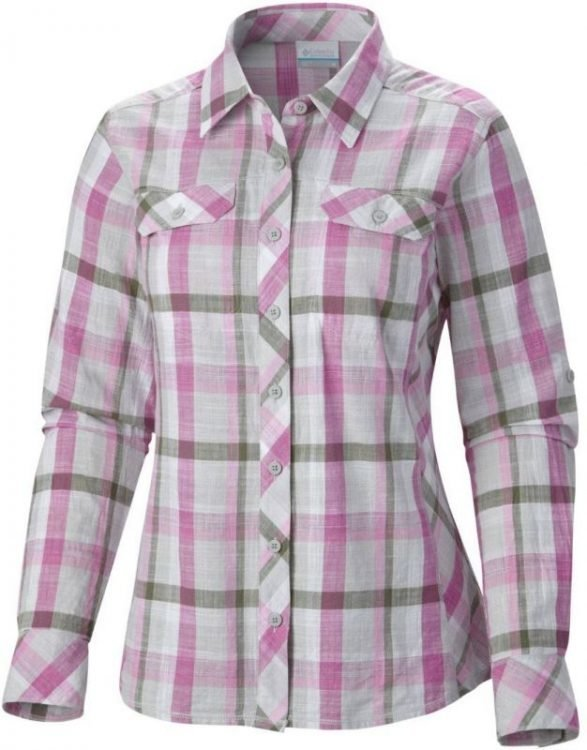 Columbia Camp Henry Long Sleeve Shirt Pink L
