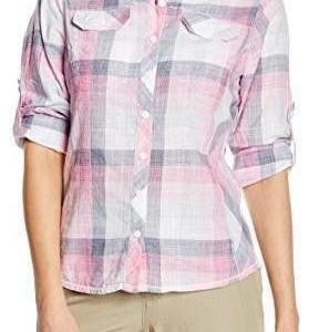 Columbia Camp Henry Long Sleeve Shirt Vaaleanpunainen L