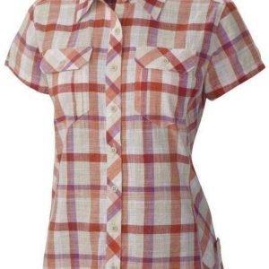 Columbia Camp Henry Short Sleeve Shirt Women Coral L