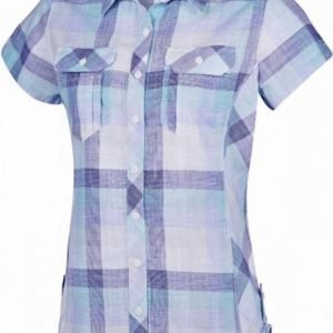 Columbia Camp Henry Short Sleeve Shirt Women Purple M