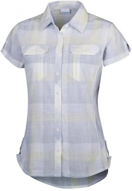 Columbia Camp Henry Short Sleeve Shirt Women Vaaleanharmaa L