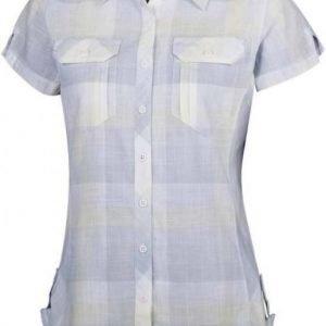 Columbia Camp Henry Short Sleeve Shirt Women Vaaleanharmaa M