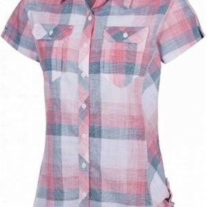 Columbia Camp Henry Short Sleeve Shirt Women Vaaleanpunainen L